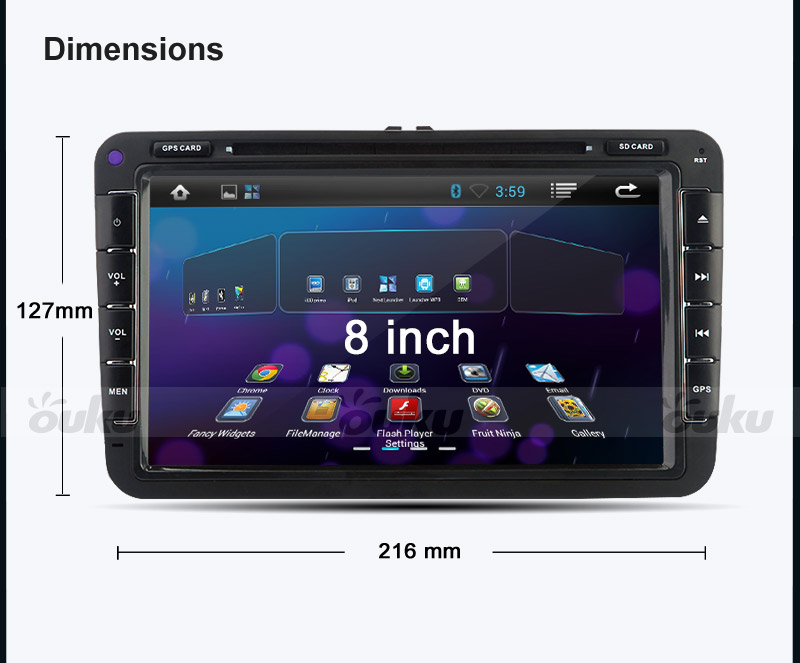 8 4 2 hd android autoradio dvd gps 3g vw touran tiguan golf 6 mk5 passat ebay. Black Bedroom Furniture Sets. Home Design Ideas