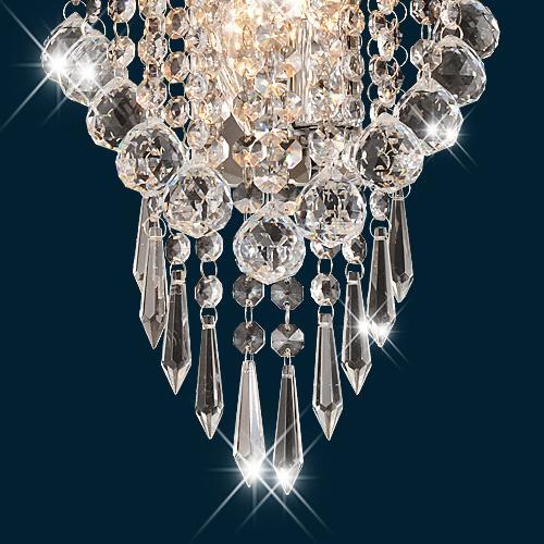 Metal Wall Sconce Light Fixtures : Modern 2Light Crystal Wall Sconce Pendant Light Vanity Lighting Bathroom Fixture eBay