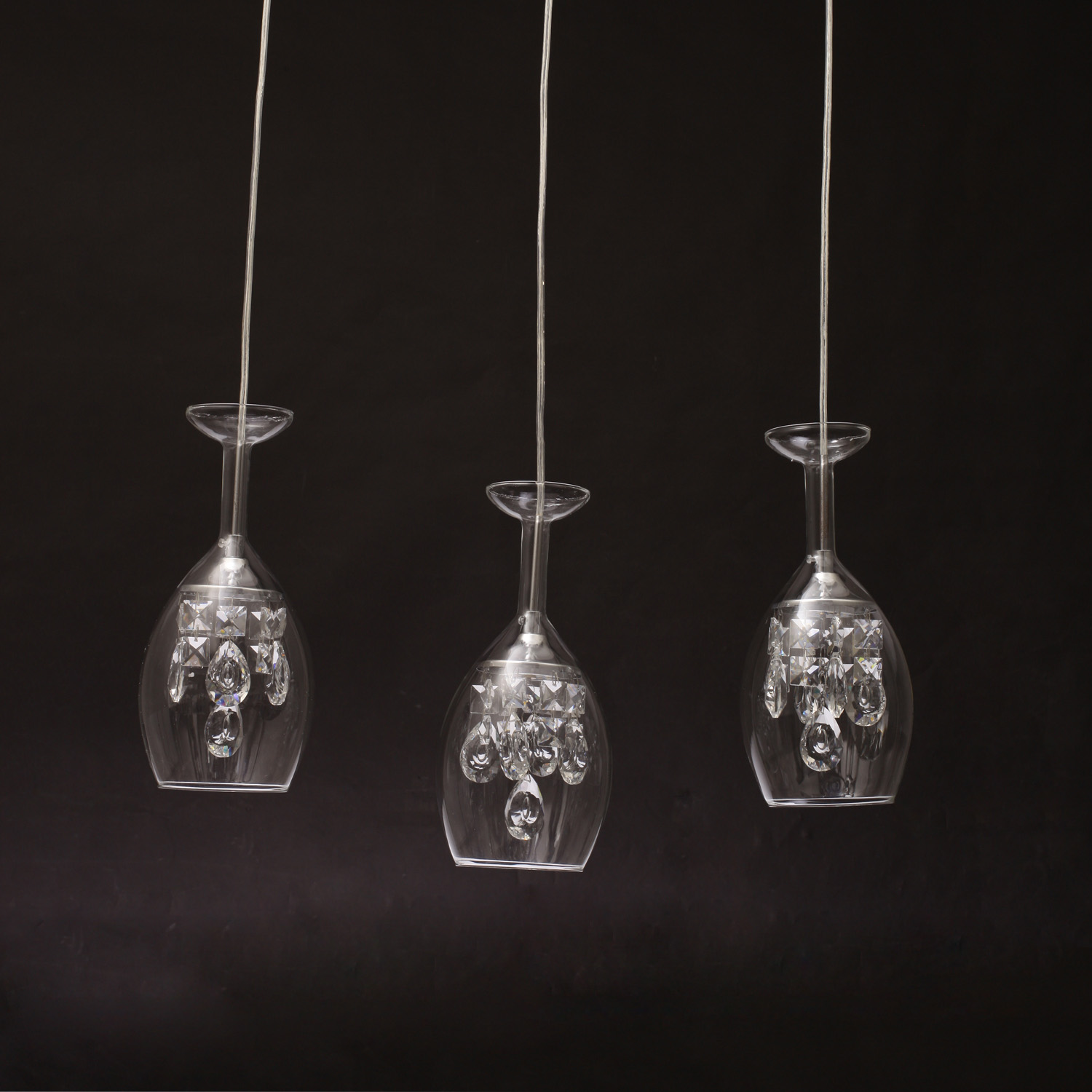 Modern cup led crystal ceiling lighting chandelier 3 for Contemporary chandeliers and pendants