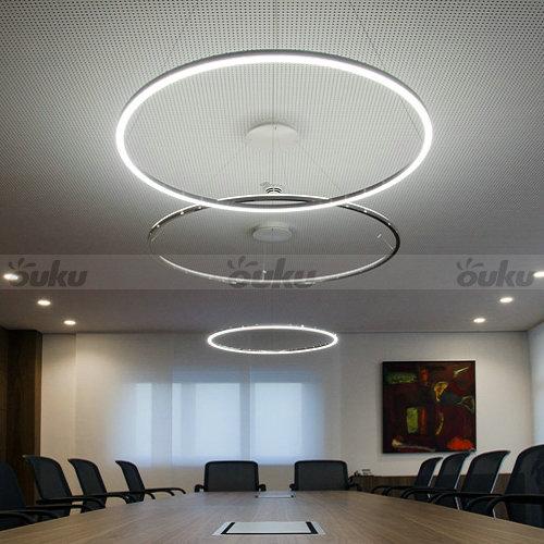 60cm LED Ring Pendant Light Circles Ceiling Lamp Dining Room ...