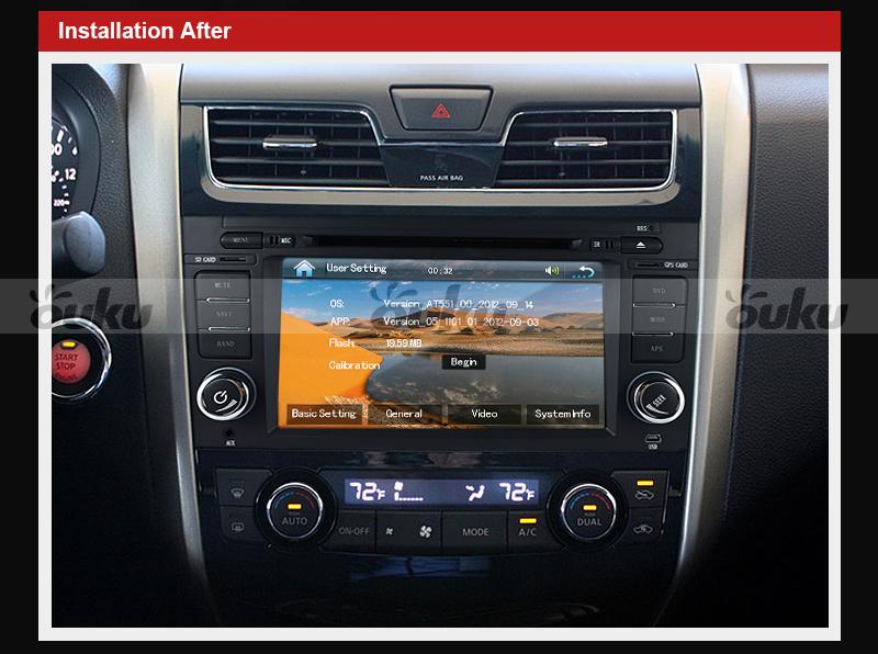 for nissan altima 2009 11 7 car dvd player gps navigation stereo radio bt 3d tv ebay. Black Bedroom Furniture Sets. Home Design Ideas