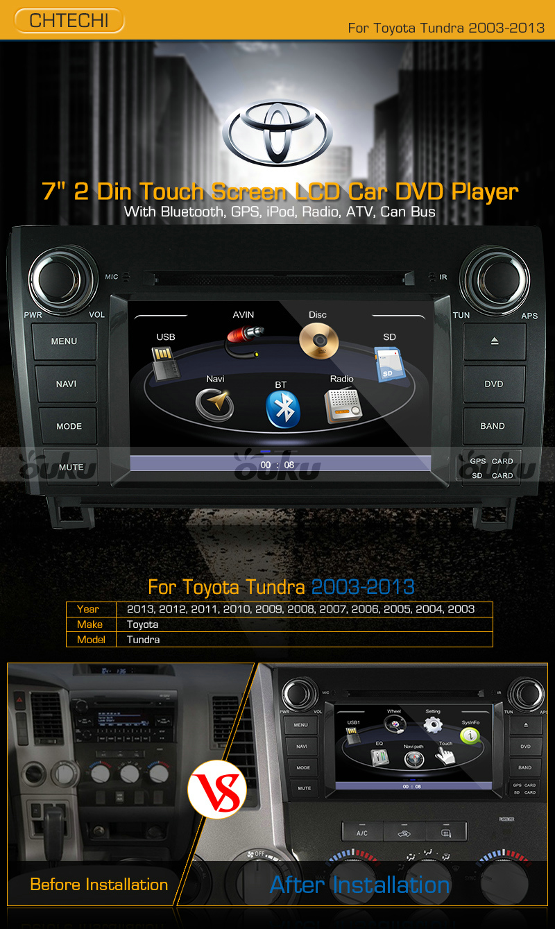 7 car dvd player gps ipod stereo radio touch screen for. Black Bedroom Furniture Sets. Home Design Ideas
