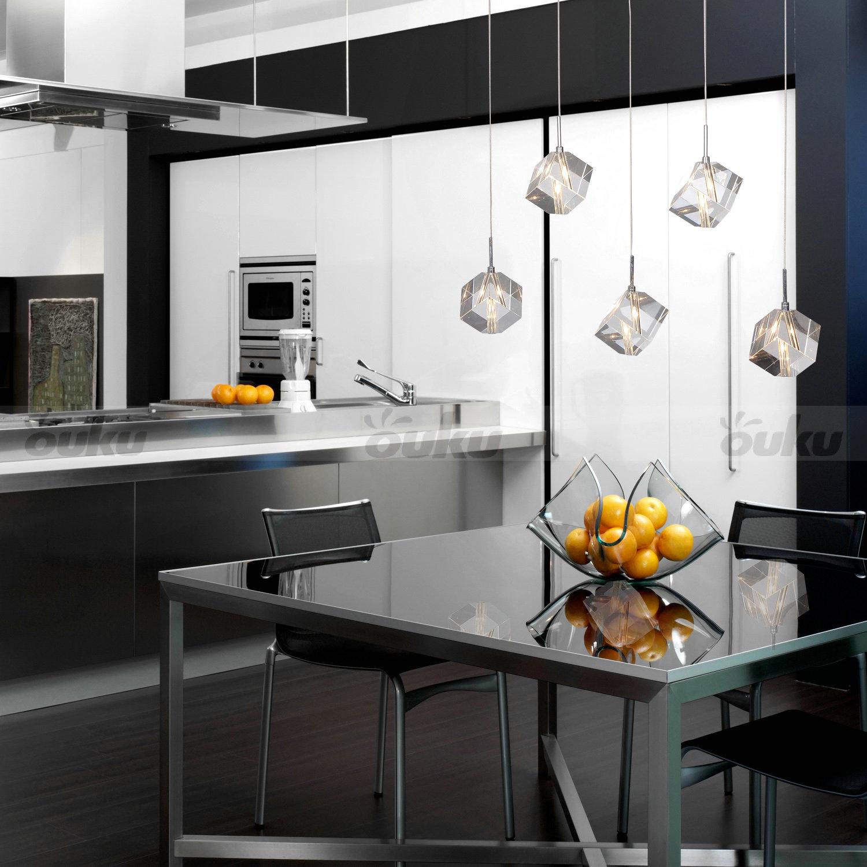 Modern Ceiling Lights Bar Lamp Silver Chandelier Lighting: Modern K9 Crystal Chandelier Ceiling Light Pendant Lamp