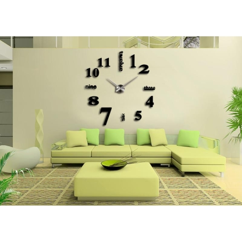 modern frameless 3d wall clock wanduhren f r k chen b rouhr decor riesen design ebay. Black Bedroom Furniture Sets. Home Design Ideas