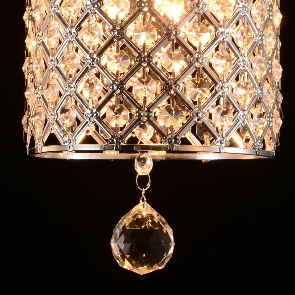 Chandelier Pendant Lighting: TOP US Crystal Chandelier Ceiling Hanging Cylinder Lamp