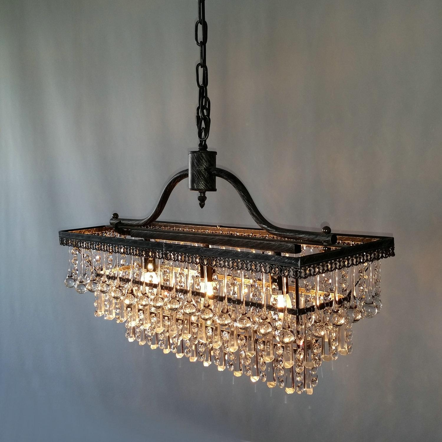 crystal decoration large modern chandelier metal fixture pendant