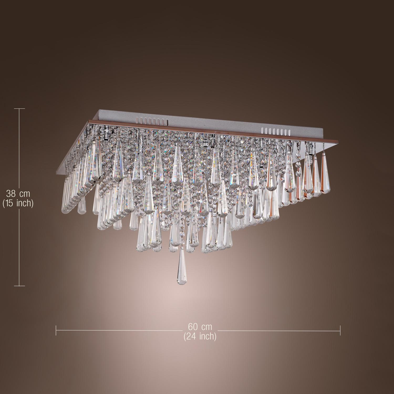 Modern Crystal Ceiling Light Chandelier Flush Mount