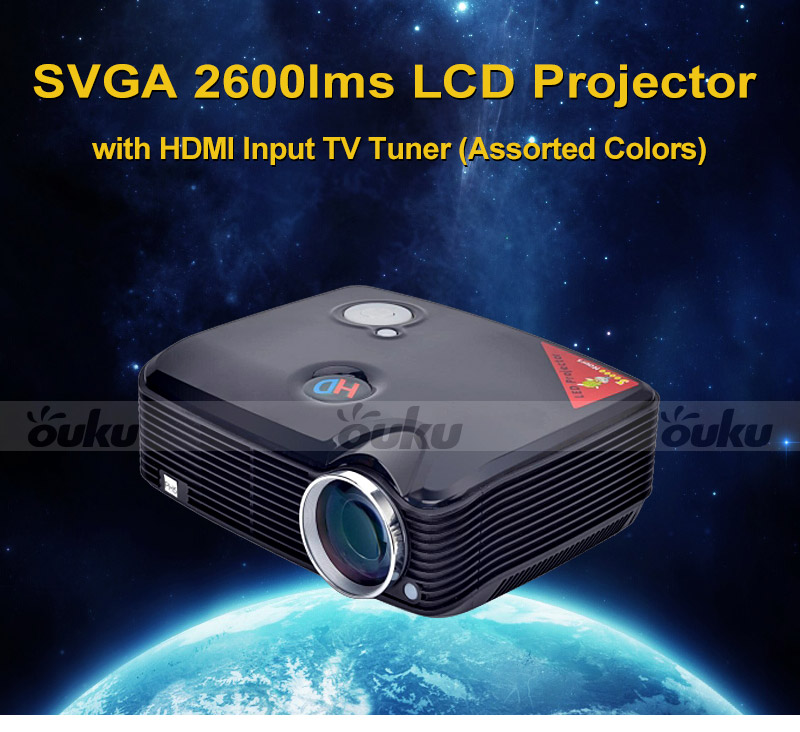 Tv Tuner Projector High Definition Home Theater Wxga Full: SVGA 2600lms LCD LED Projector With HDMI Input TV Tuner