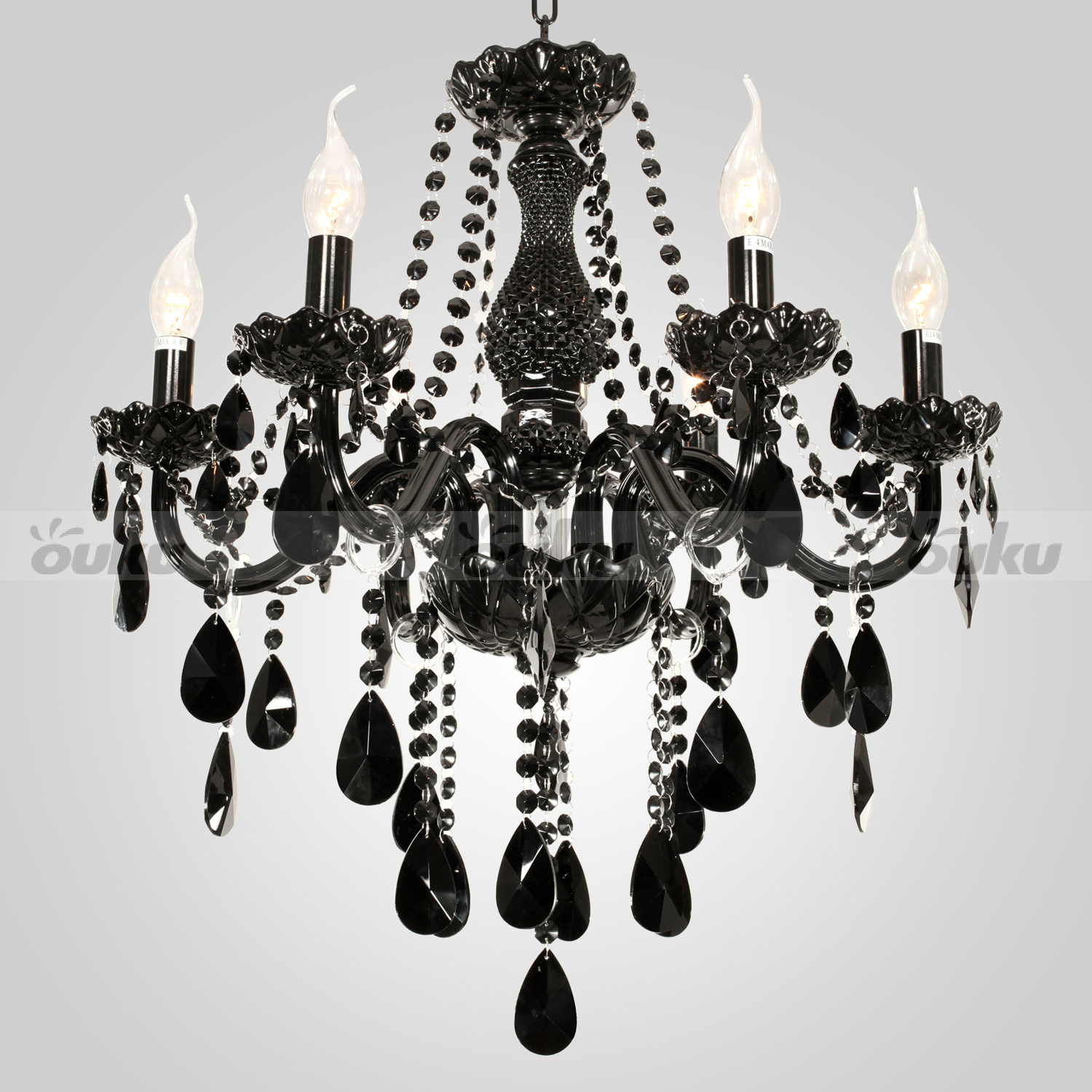 Modern candle ceiling 6 lights hanging crystal pendant Crystal candle chandelier