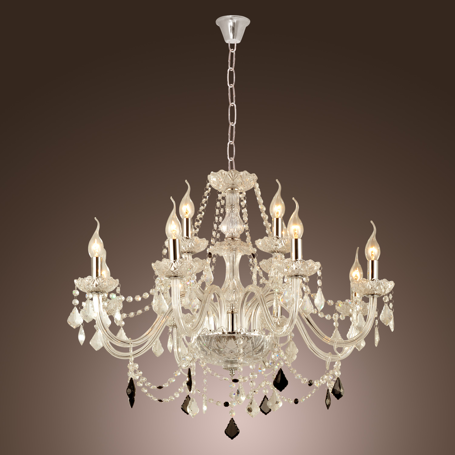 Modern Chandeliers Pendant Light Crystal Rustic Lodge Living Room Dining Room