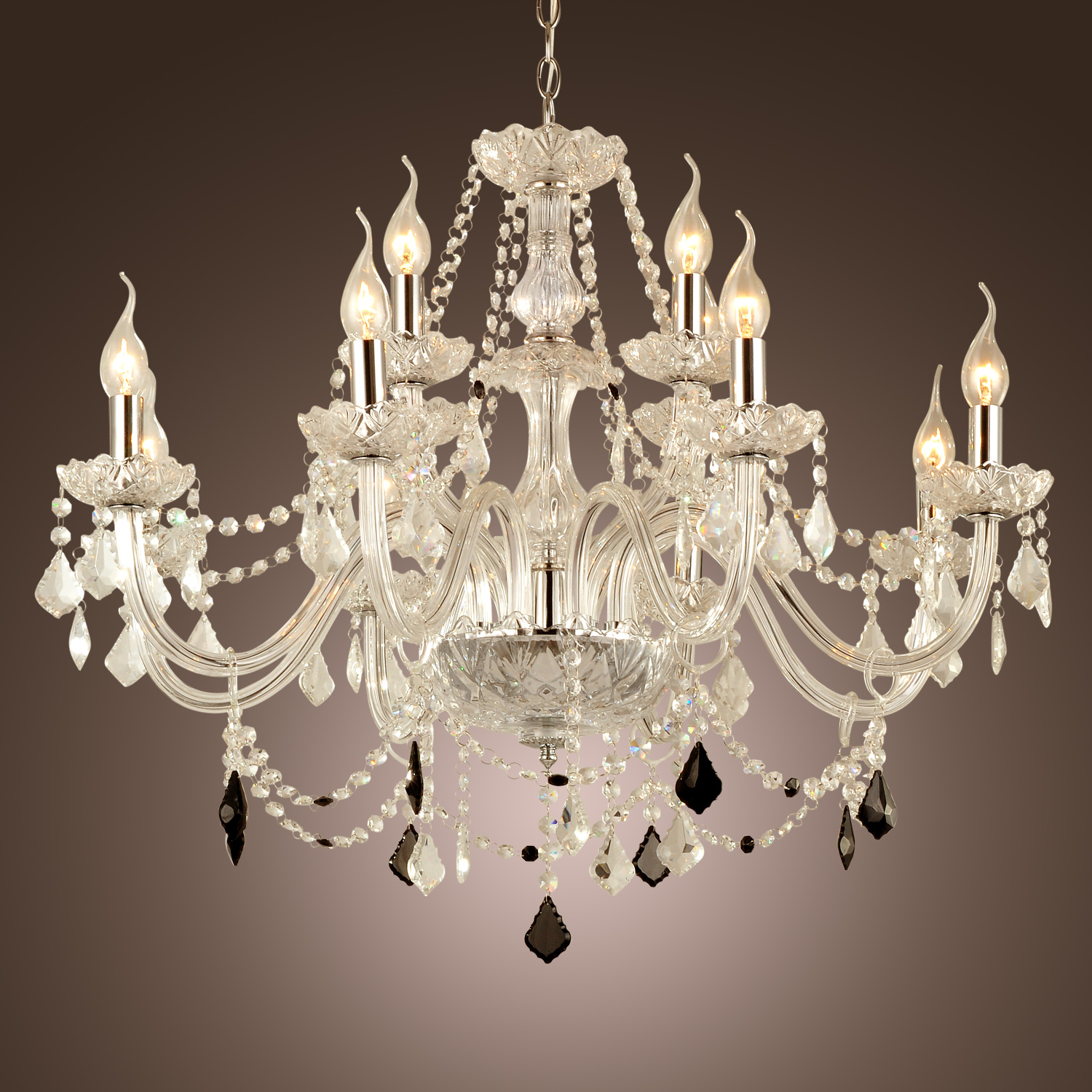 12 LIGHT VENETIAN MURANO STYLE CRYSTAL CHANDELIER KITCHEN