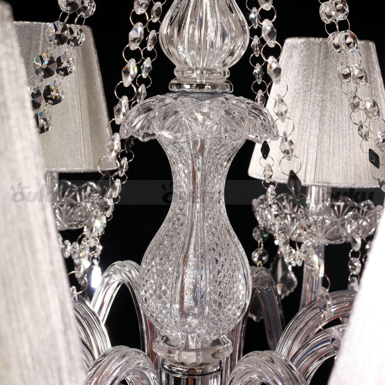 Chandelier Crystal Droplet Luxury Rustic Living Room 8 Lamp Ceiling Lights UK