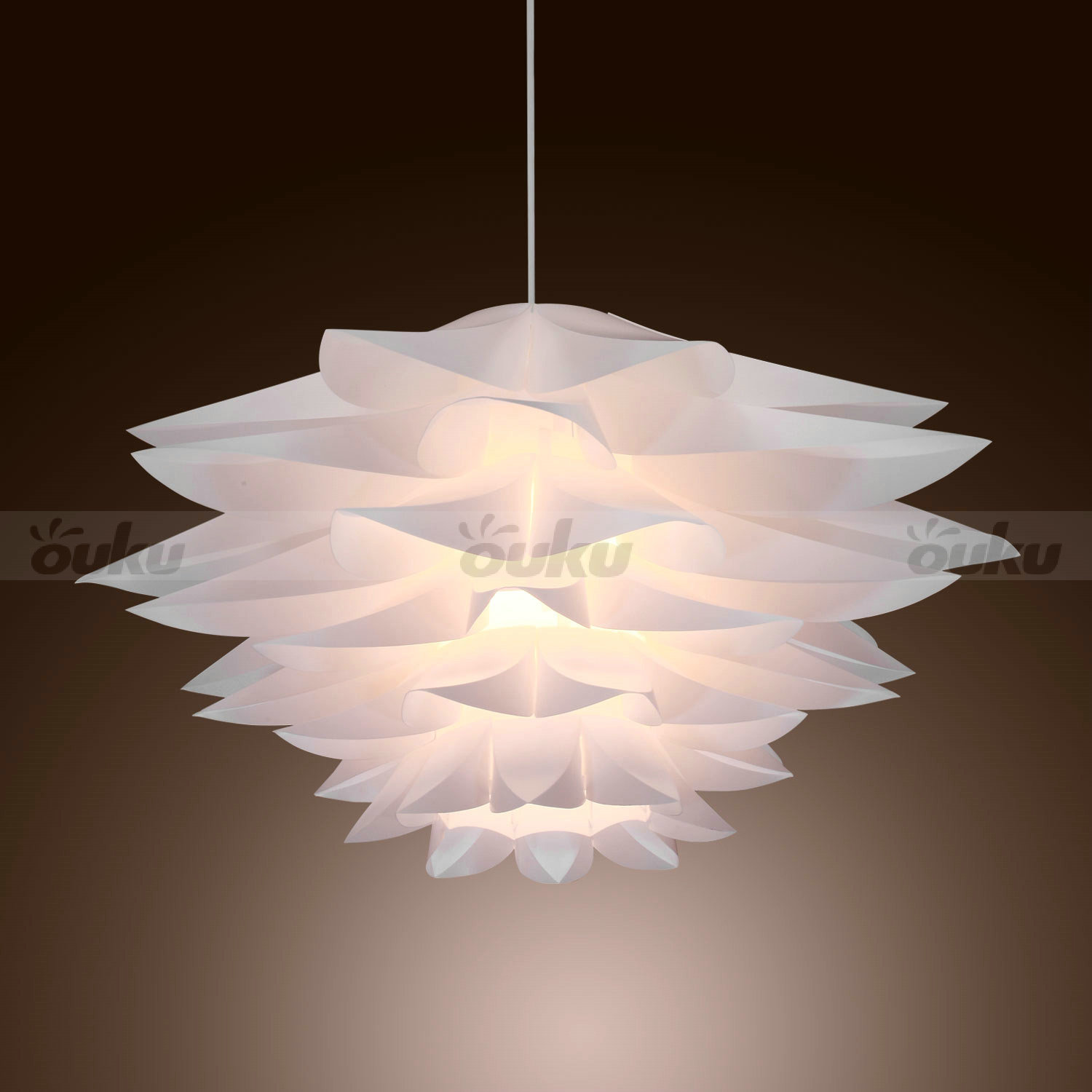 New modern white pvc ceiling light pendant lamp living room fixture chandelier ebay - Chandelier ceiling lamp ...