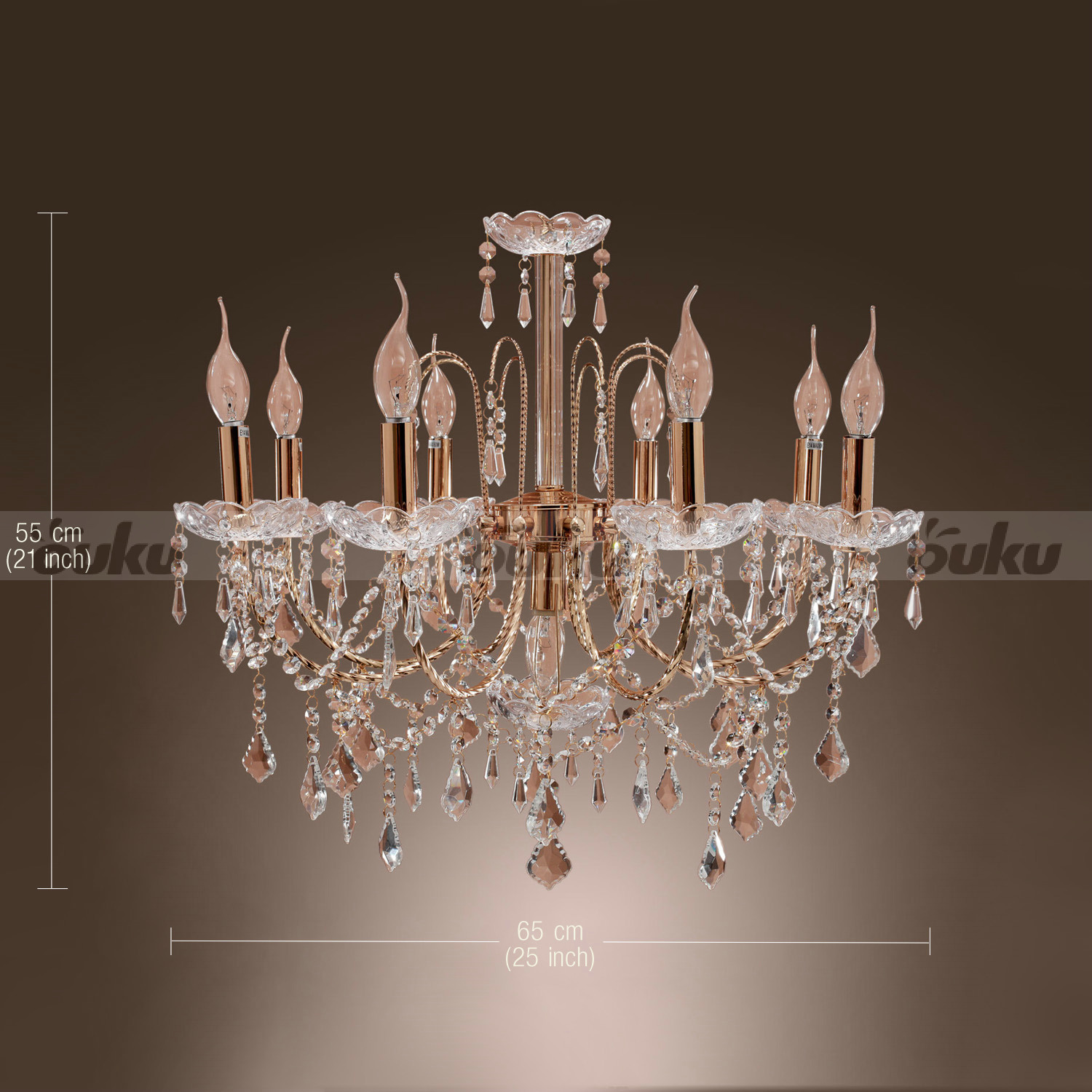 Lodge Rustic Crystal Candle Shape Chandelier Ceiling Light Pendant Lamp Hot