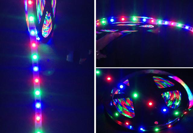 Tiras de luces led sets de luces 3528smd dc12v rgb ip65 8 - Tiras luces led ...