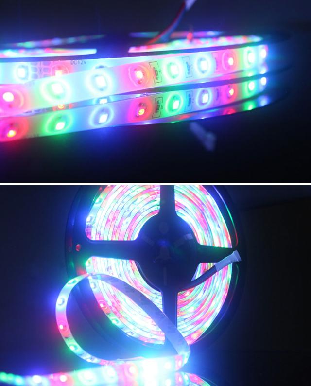 Tiras de luces led sets de luces 3528smd dc12v rgb ip65 8 - Luces led tiras ...