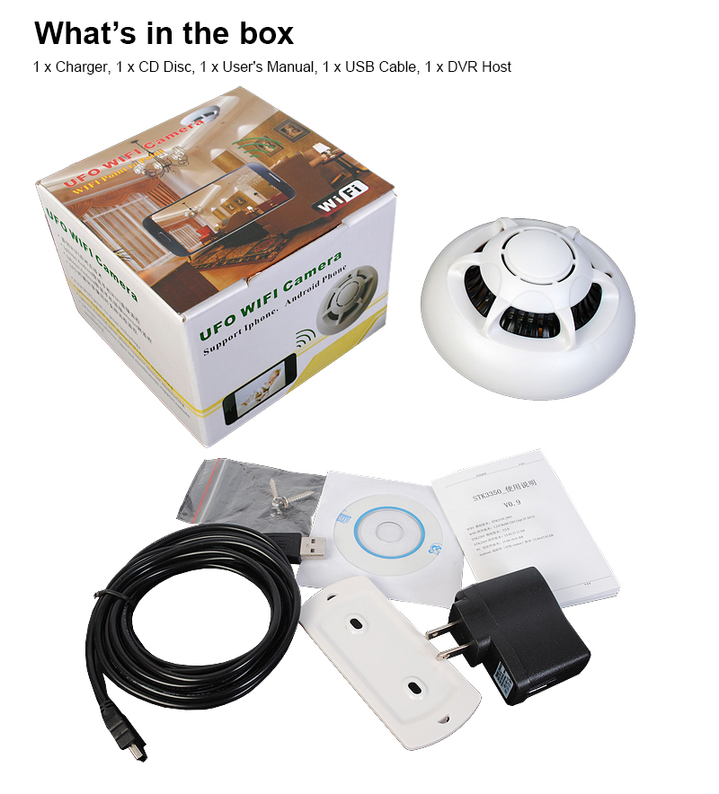 smoke detector wifi hd spy hidden camera wireless ip camera nanny video recorder. Black Bedroom Furniture Sets. Home Design Ideas