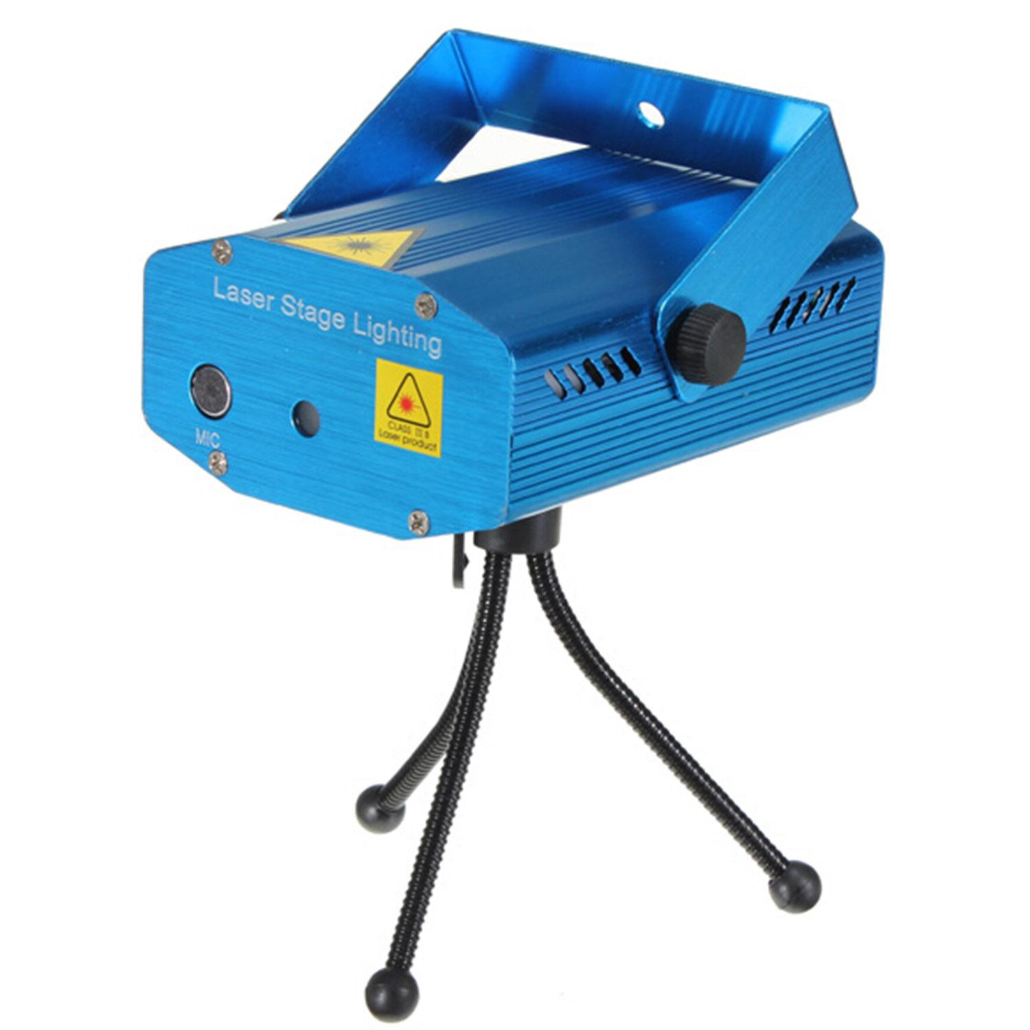 Mini blue portable dj laser projector lighting projector for Best portable laser projector