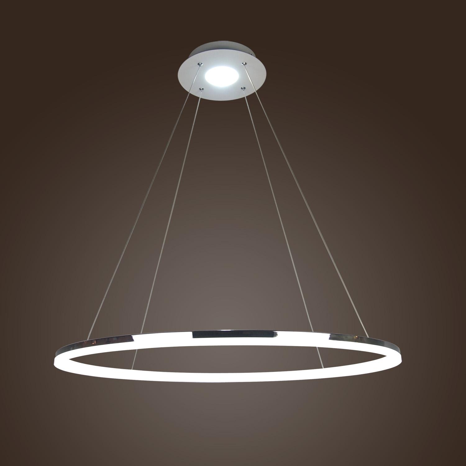 Led Light Fixture Pictures: Acrylic LED Ring Chandelier Pendant Lamp Ceiling Light