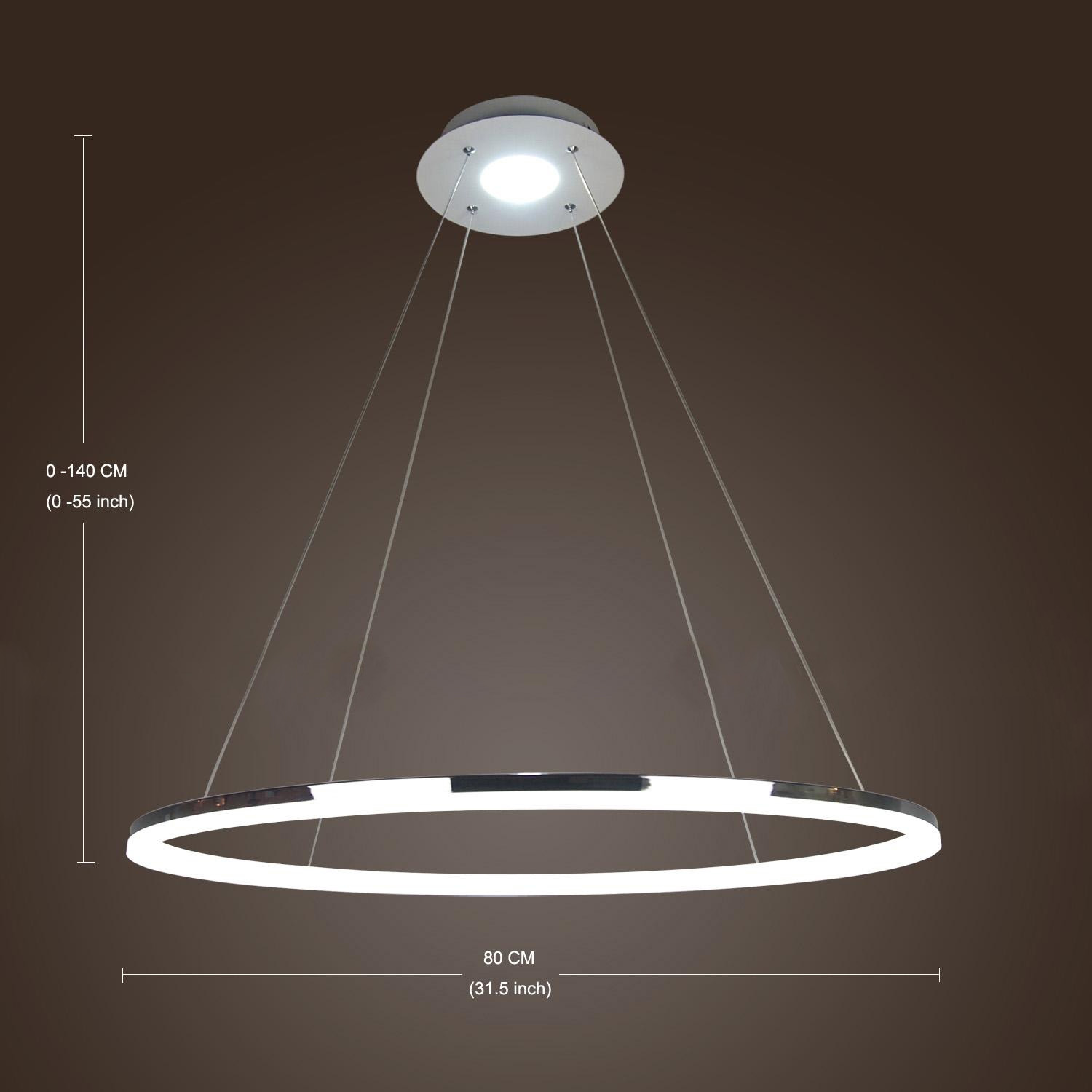 Modern luxury ring pendant lamp ceiling hanging lighting for Modern hanging pendant lights