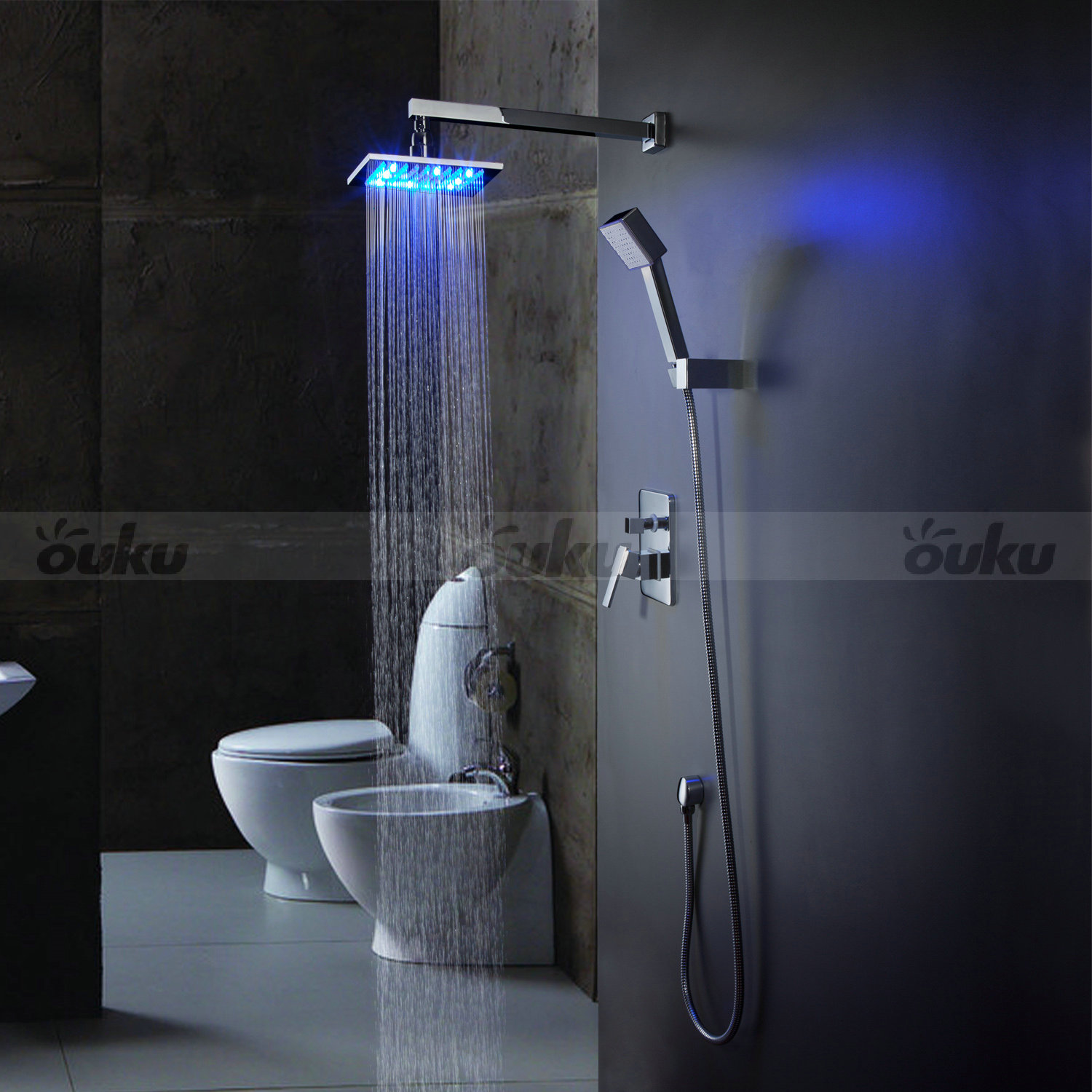 Bathroom Rain Shower Faucet System Set 8 Quot Shower Head