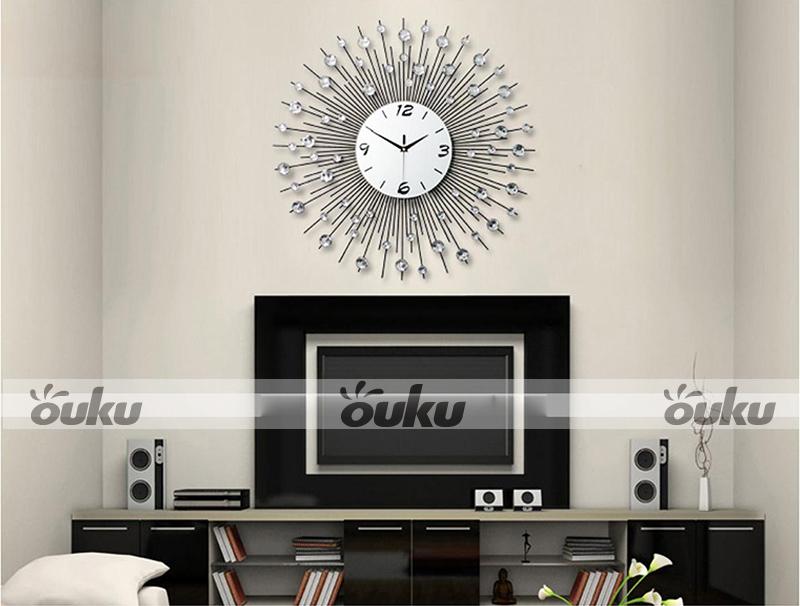Analog Scenic Iron Art Metal Wall Clock Modern Home Decor