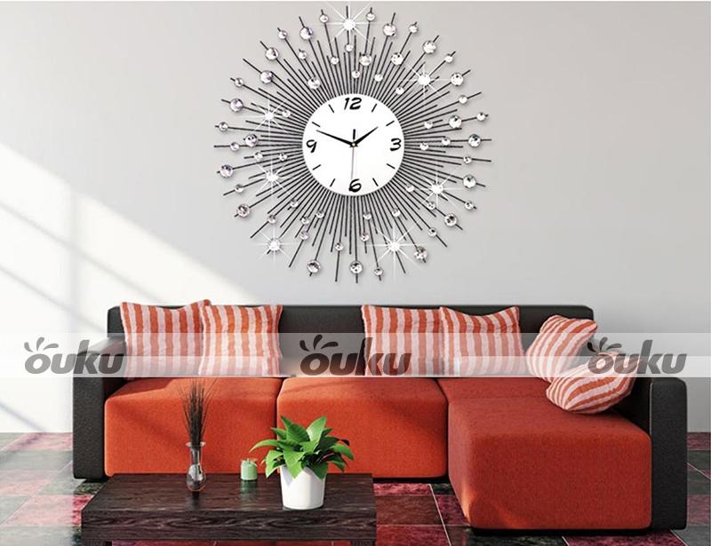 Oversized Luxury Scenic Iron Art Metal Living Room Wall