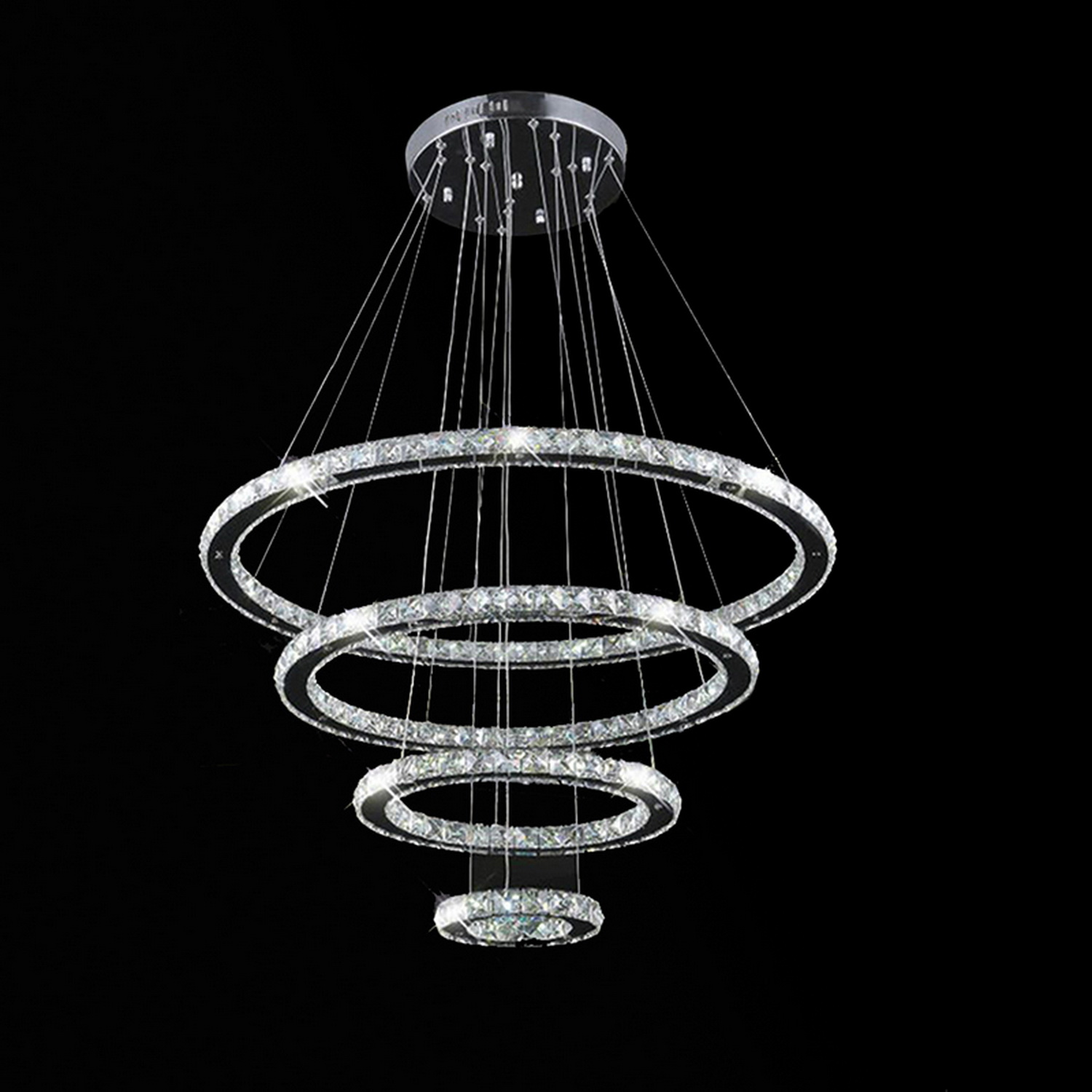 Led Light Fixture Pictures: Modern Galaxy Crystal Chandelier LED Lighting Fixture