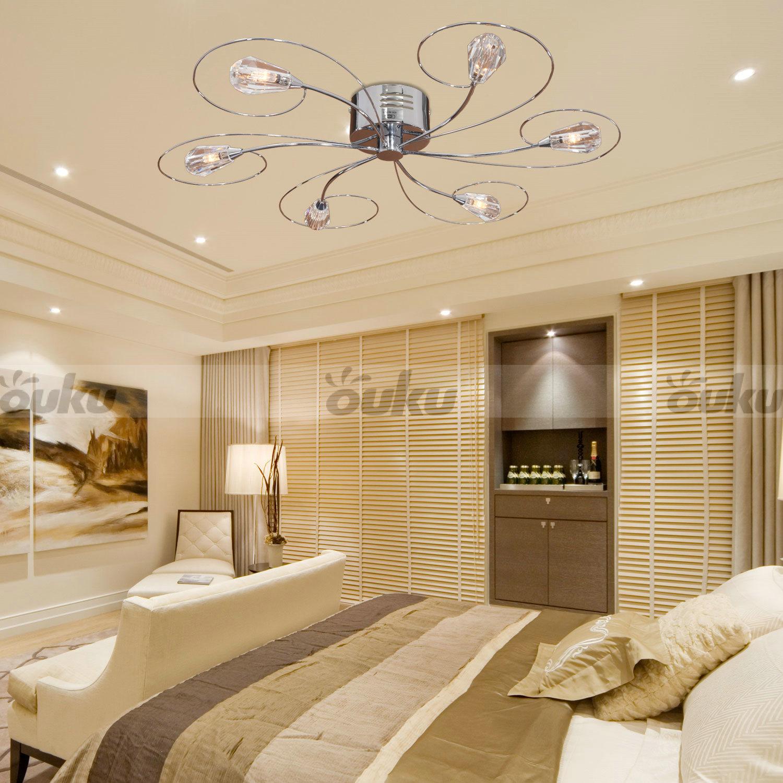 fan shade vintage flush mount 6 lights chandeliers ceiling