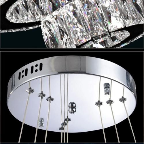 D70CM Modern Single Ring K9 Crystal LED Pendant Lights