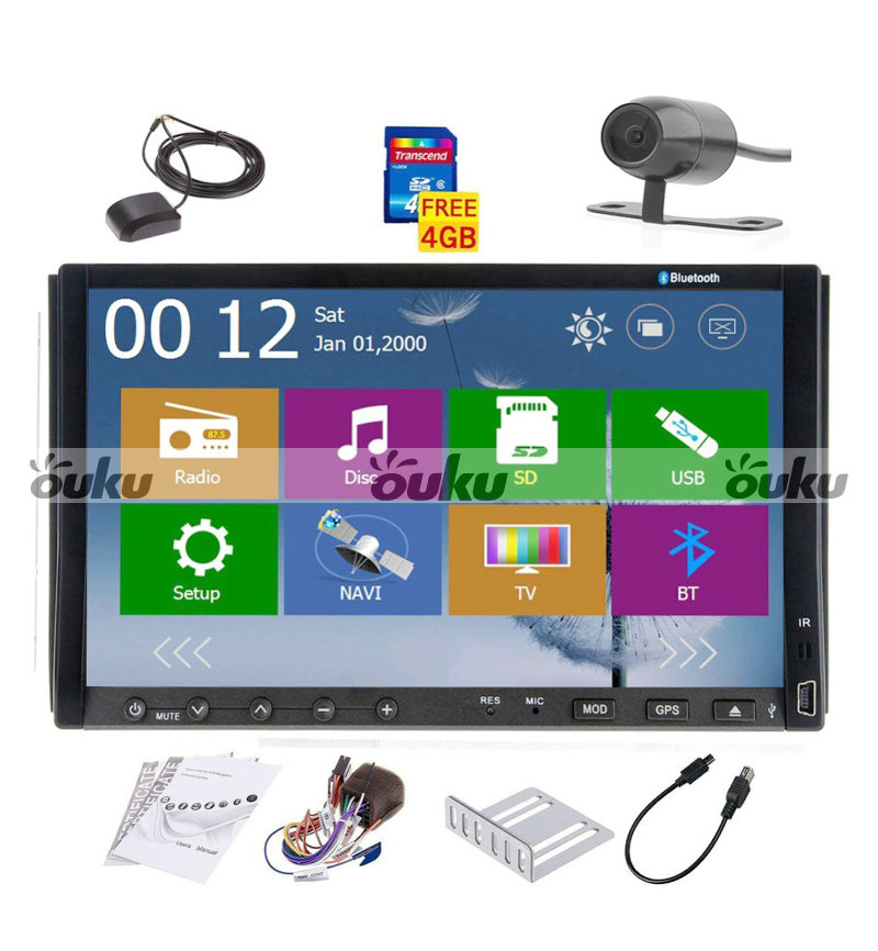 Car dvd player gps new win8 ui bluetooth rds radio 2 din car stereo - Win8 2 Din Gps Navigation Car Dvd Player Satellite Stereo