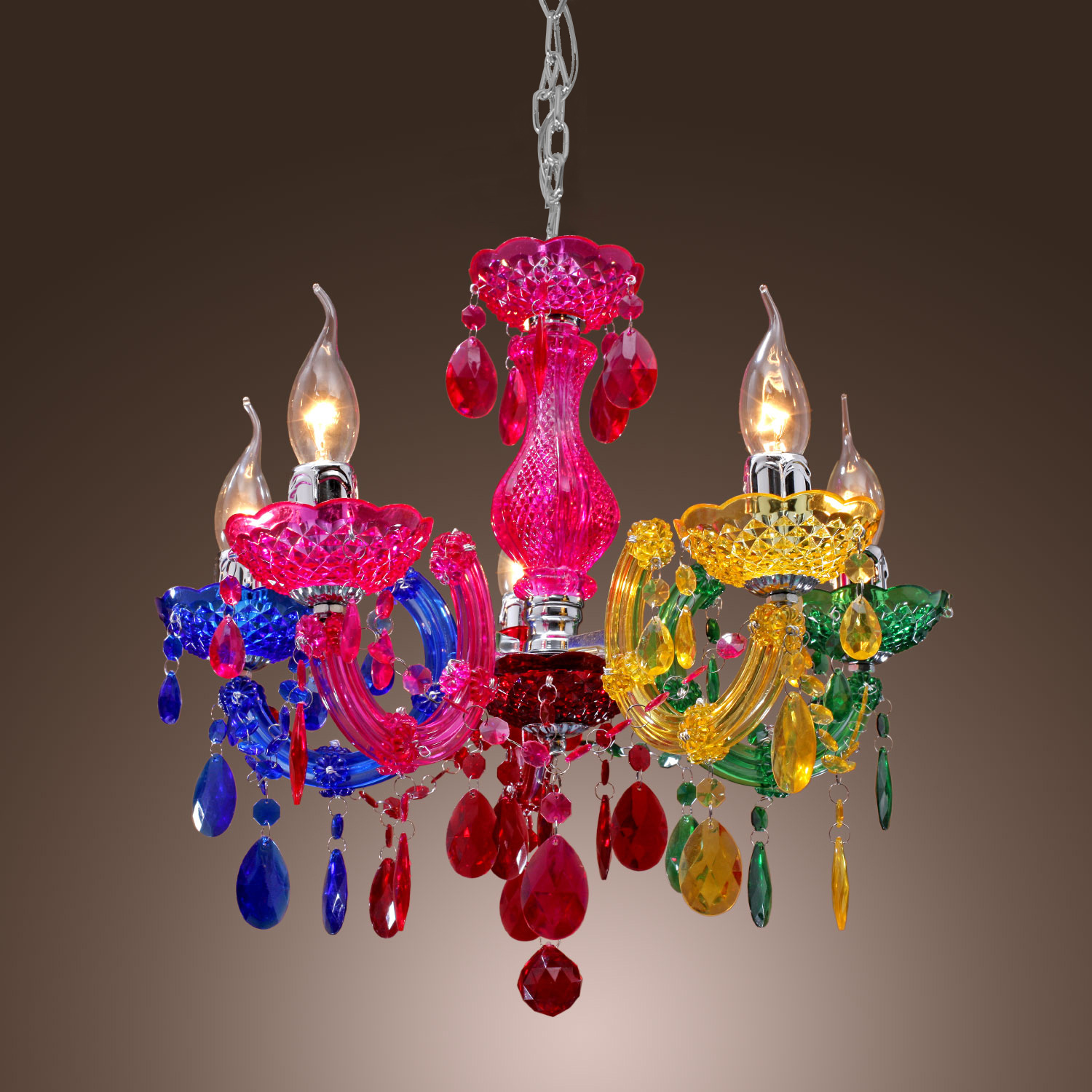 Colorful Rainbow Classic Vintage Artistic Crystal Ceiling