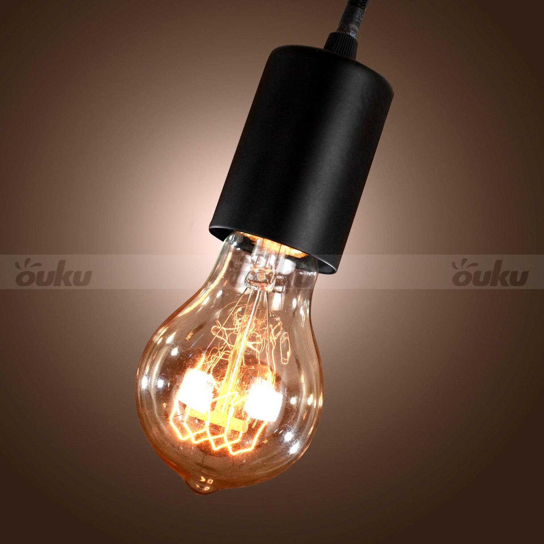 Ceiling Lights With Edison Bulbs : Edison style lights bulb chandelier ceiling light