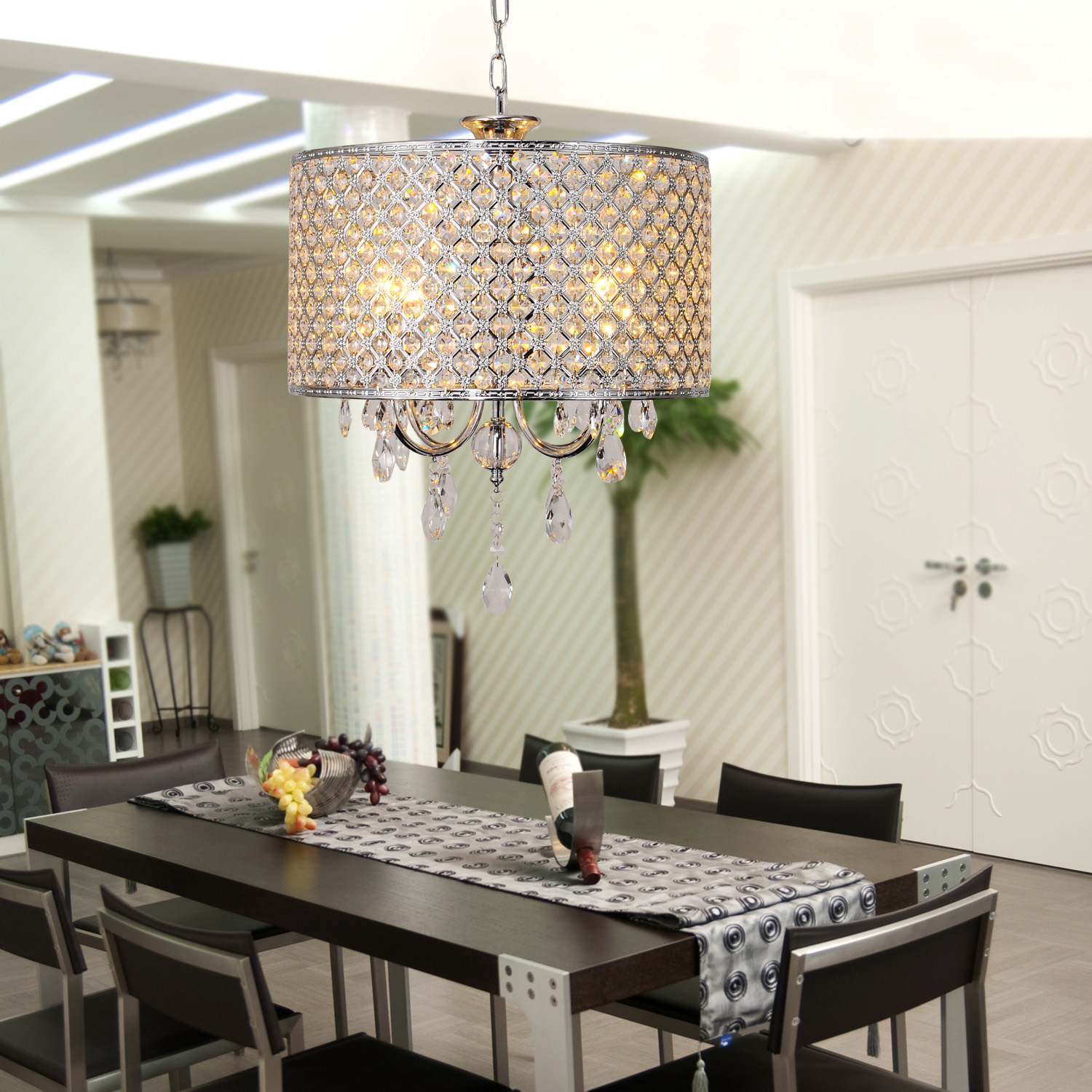 crystal chandelier with 4 lights light for dining room bedroom ebay