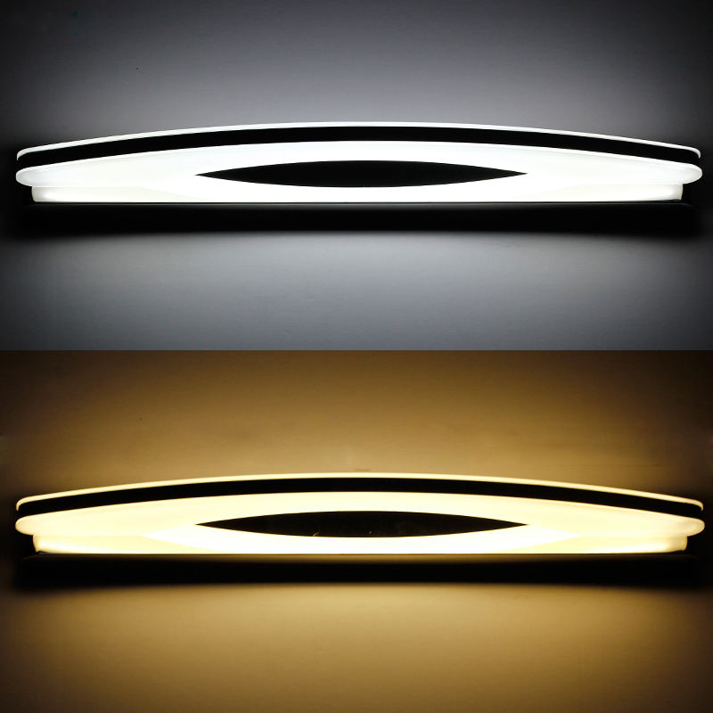 Modern Chorme Long LED Bathroom Mirror Wall Lighting Metal ...