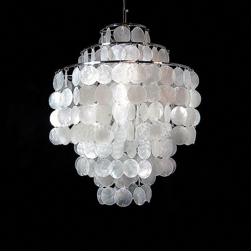 New hanging shell pendant chandelier light living room for Shell ceiling light fixtures
