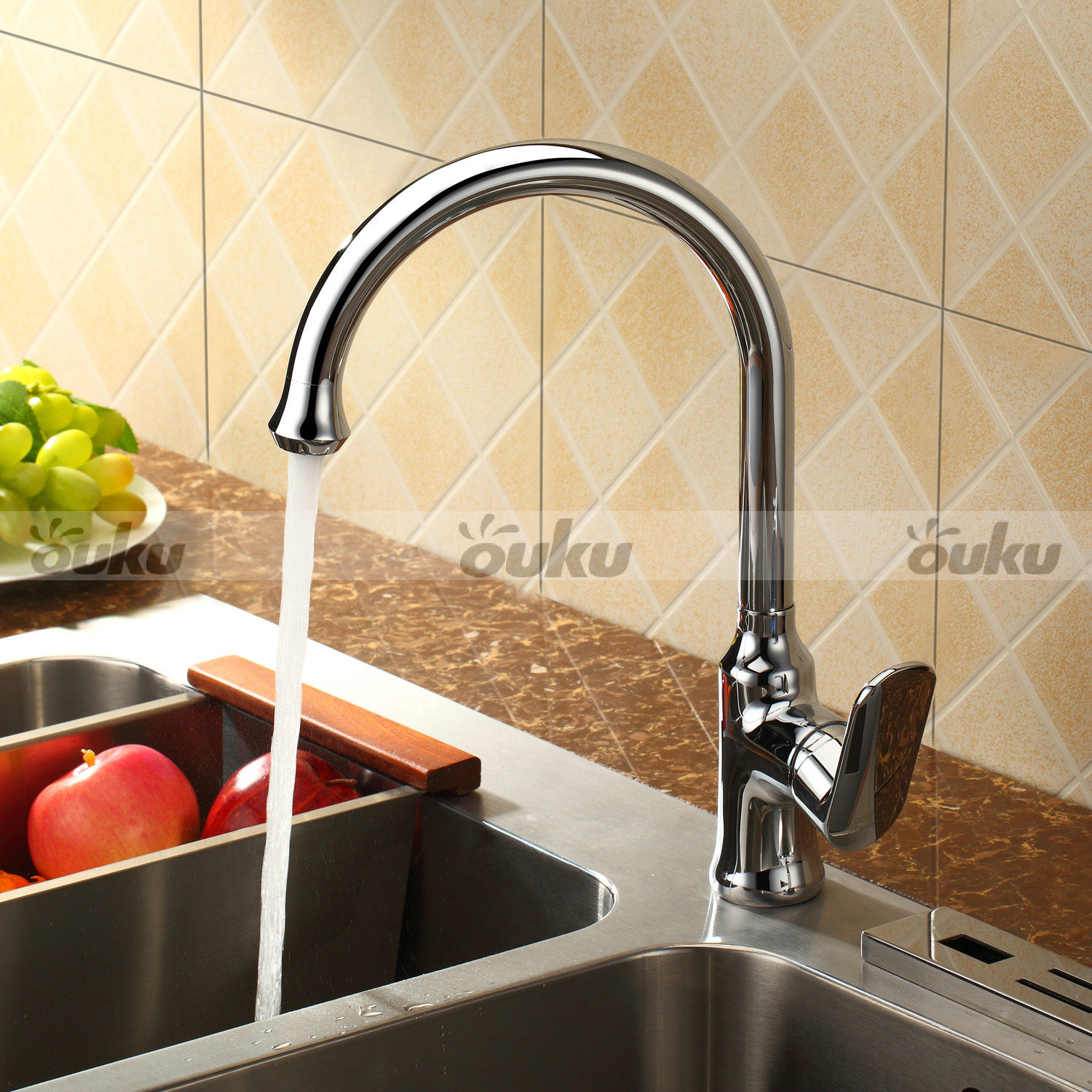 Clearance New Modern Chrome Brass Kitchen Faucet Single Handle Sink Mixer Tap Ebay
