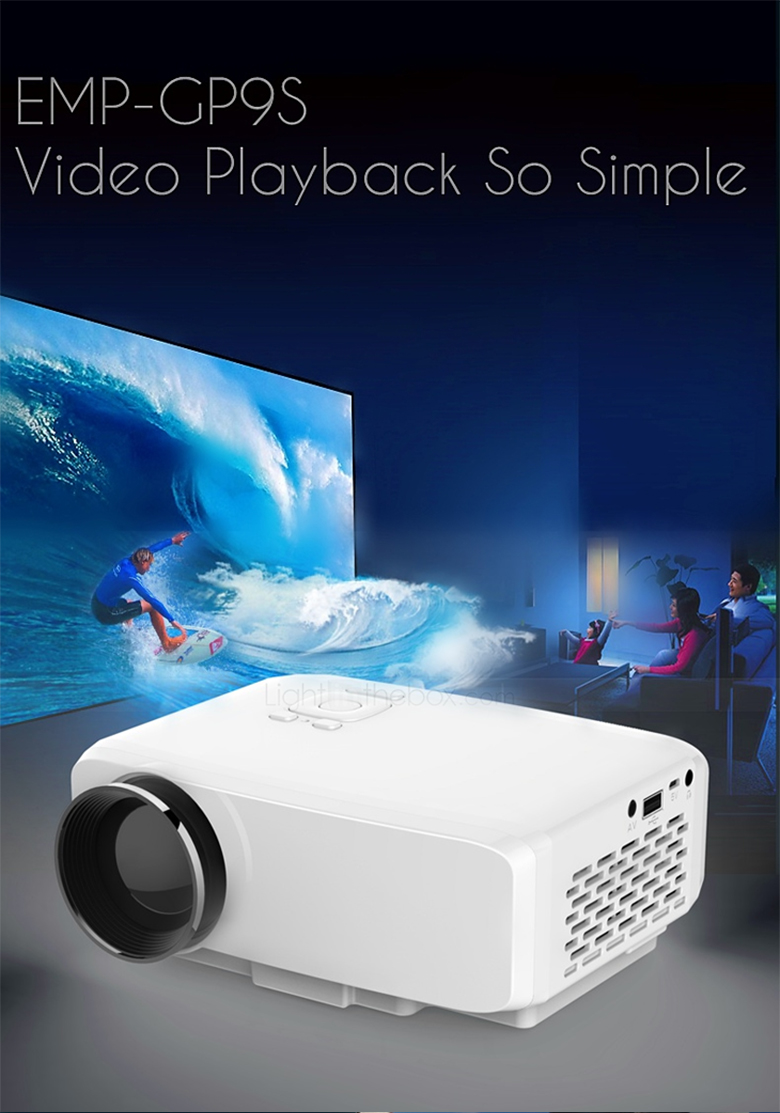 Home cinema theater mini led lcd projector 1080p 4k hdmi for Micro movie projector