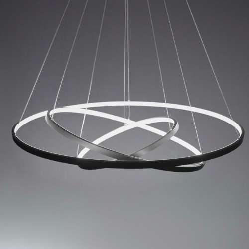 Led 3 Ring Chandelier: Three Rings LED Acrylic Ceiling Chandelier Pendant Lamp