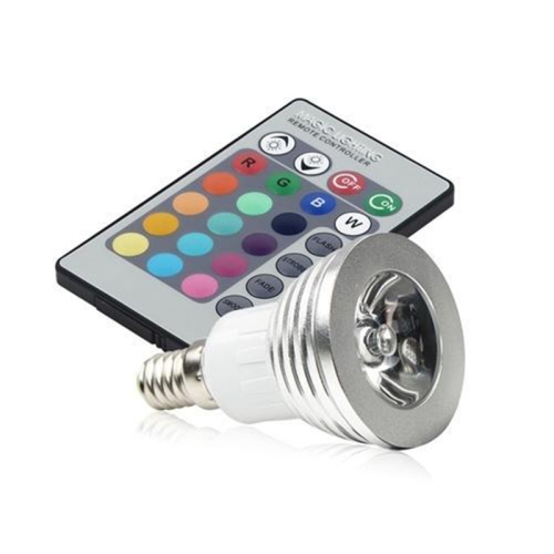 3w rgb remote control color changing dimmable led light bulb lamp ebay. Black Bedroom Furniture Sets. Home Design Ideas