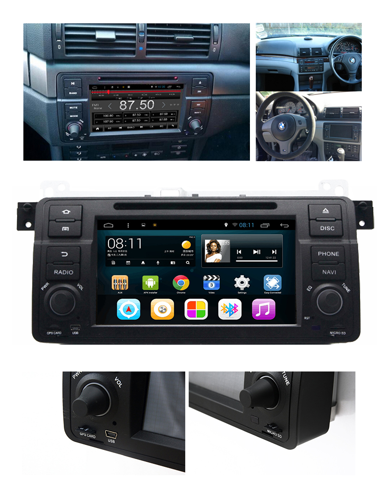for bmw e46 318 320 325 car dvd player gps navi system. Black Bedroom Furniture Sets. Home Design Ideas