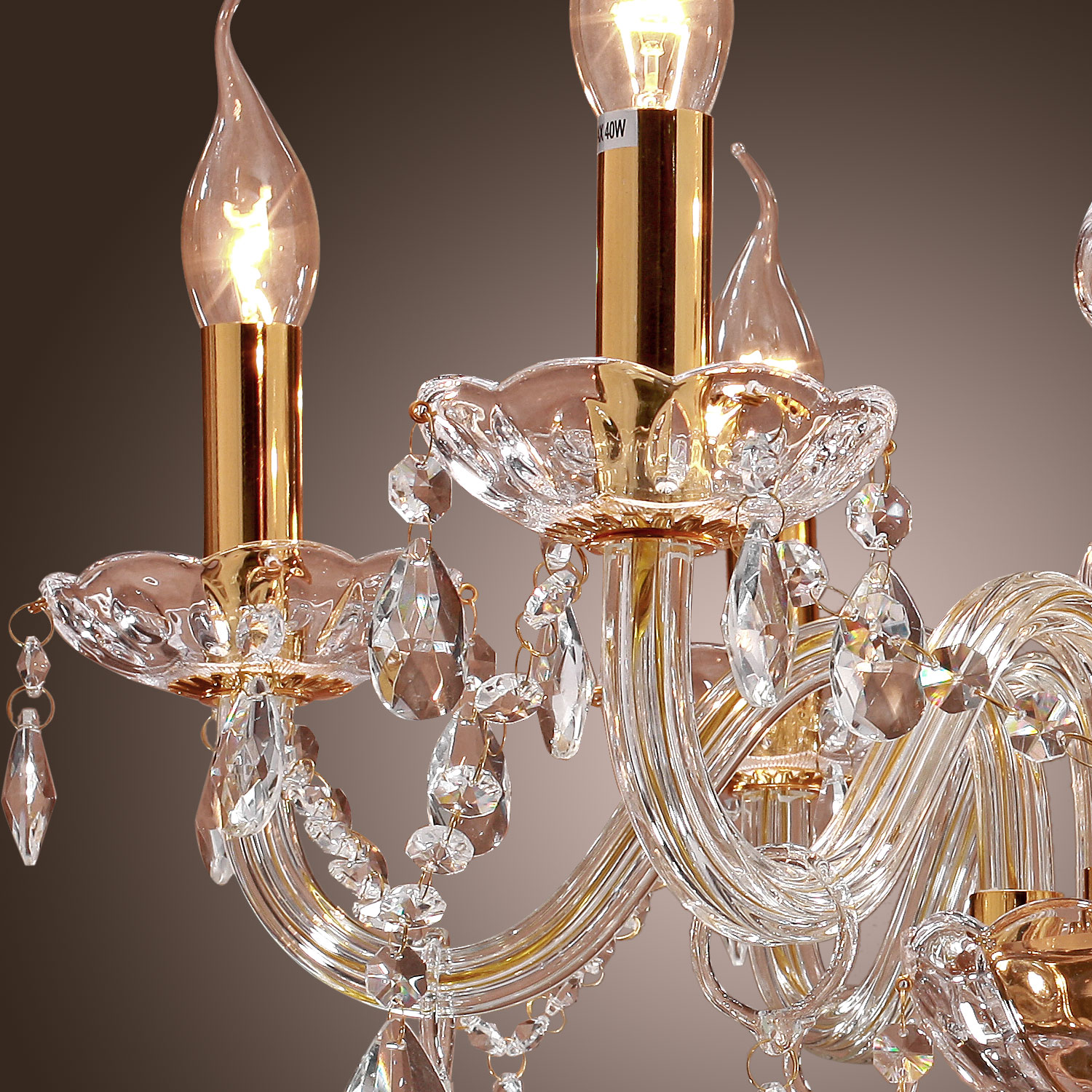 6lights 60w traditional chandelier gold feature
