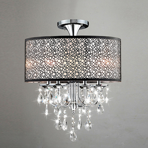 crystal mini style chandeliers modern contemporary drum living room