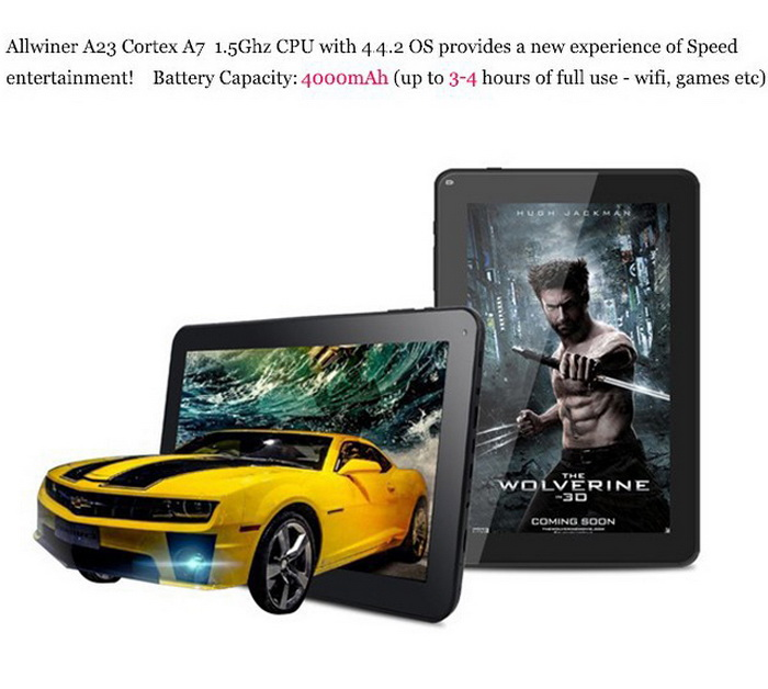 "9"" Google Android 4.4 KitKat Tablet PC CA1 Dual Core 8G Dual Camera Wi-Fi 1.5GHz"