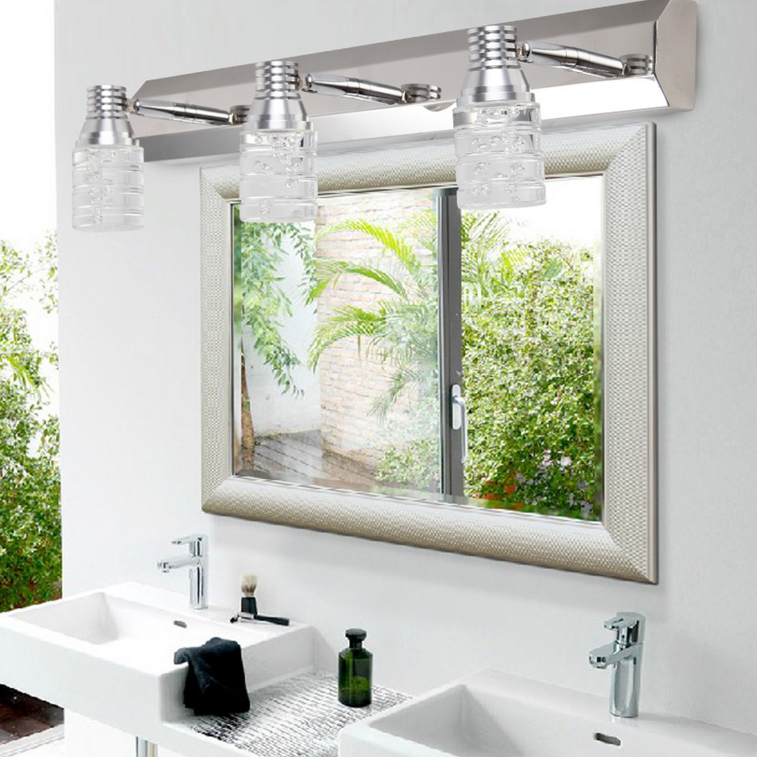 Modern Wall Light For Bathroom: Modern Crystal Mirror Bathroom Vanity Light 6W Wall
