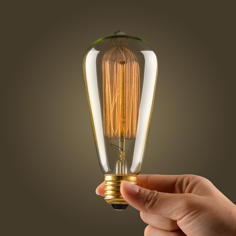 10*Ecolight E27 E26 Ampoules Rondes A Filament Rétro Vintage Blanc