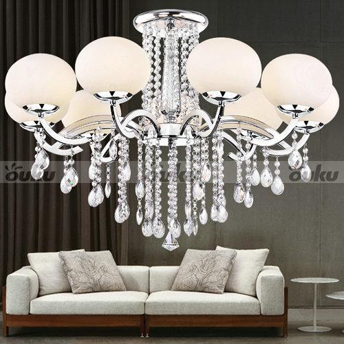 Euro Chandelier Lighting: European Style Elegant Luxury 9 Light Crystal Chandelier