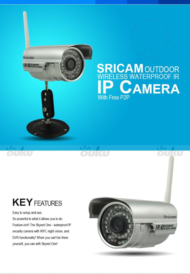 IP Camera Wifi Wireless Webcam Home Security Indoor Outdoor Phone Real-time View