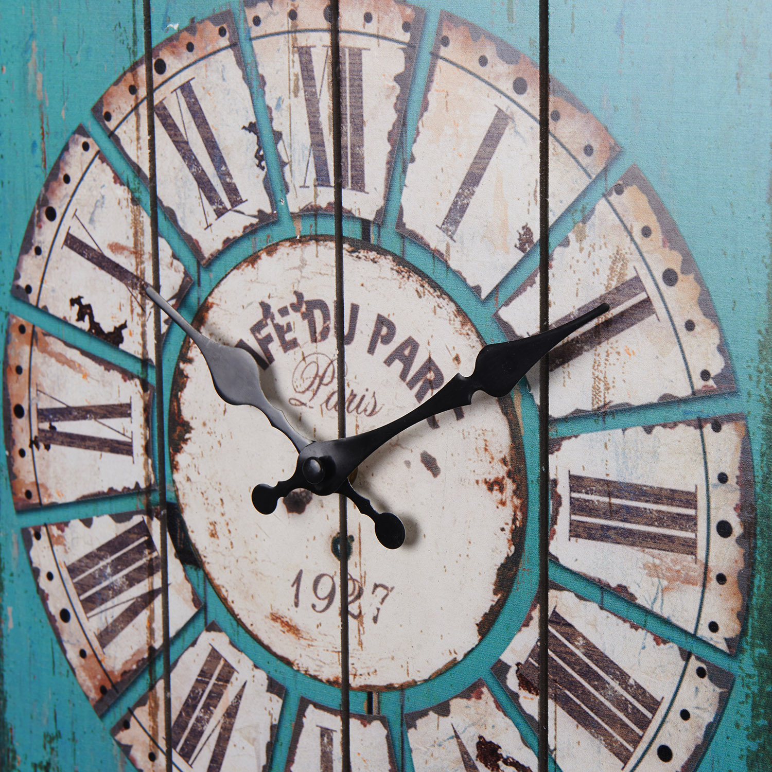 15 quot antique vintage wooden blue clock wall country large home decor ebay