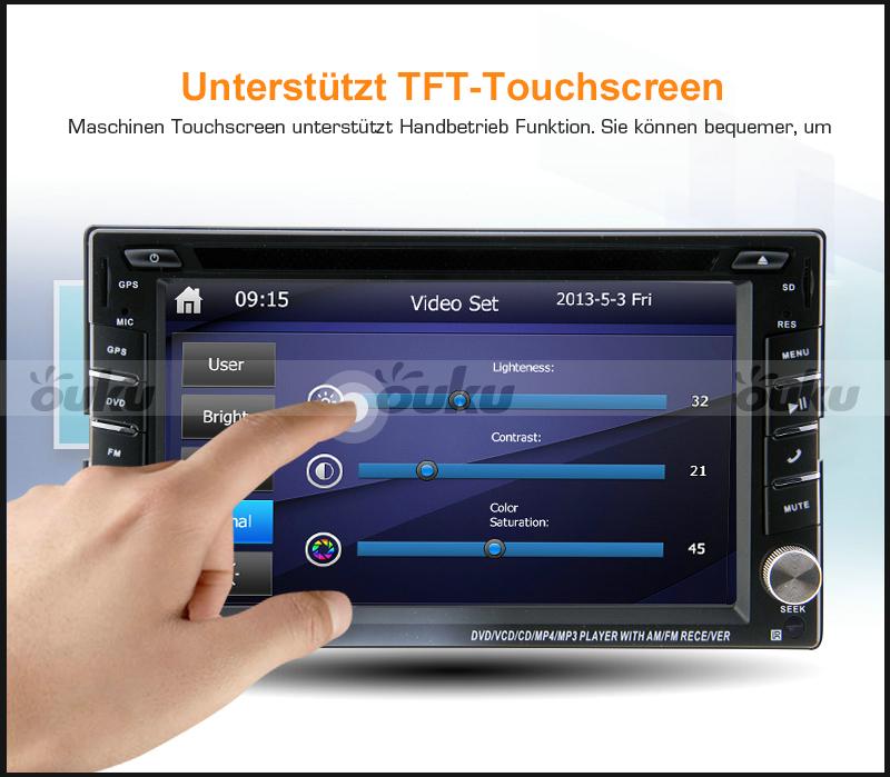 autoradio mit bluetooth touchscreen usb sd mp3 dvd player. Black Bedroom Furniture Sets. Home Design Ideas